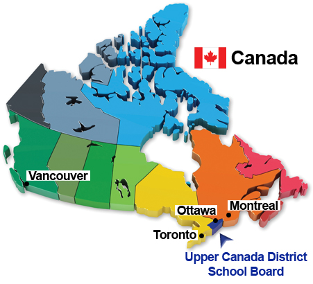School Map of Canada Upper Canada District School